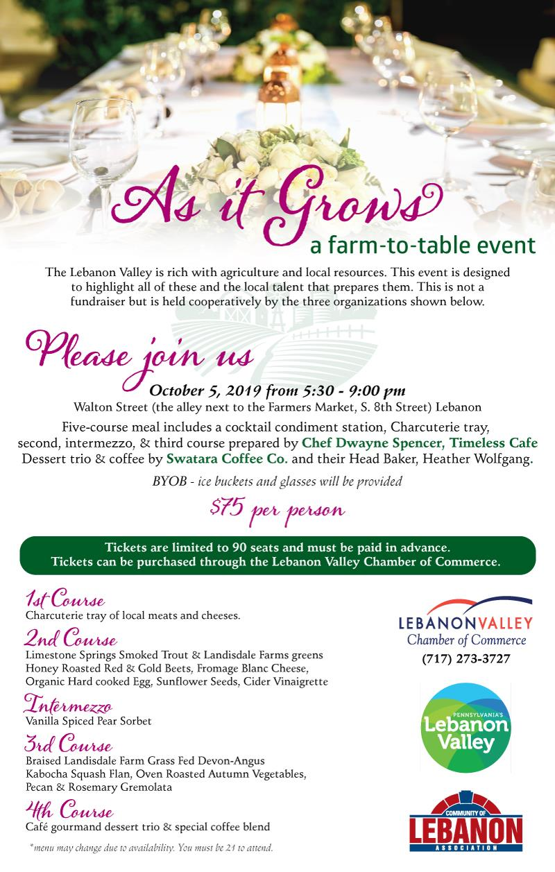 As it Grows... A Farm to Table Event